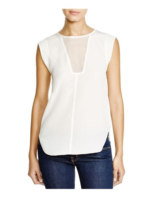 Rebecca Taylor | White Charlie Silk Top | Lyst