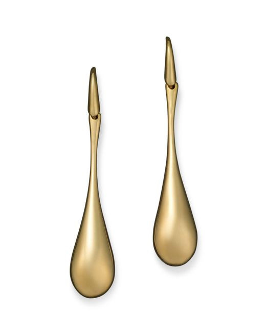 Roberto Coin | 18k Yellow Gold Drop Earrings | Lyst