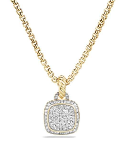 David Yurman - Metallic Albion Pendant With Diamonds In 18k Gold - Lyst
