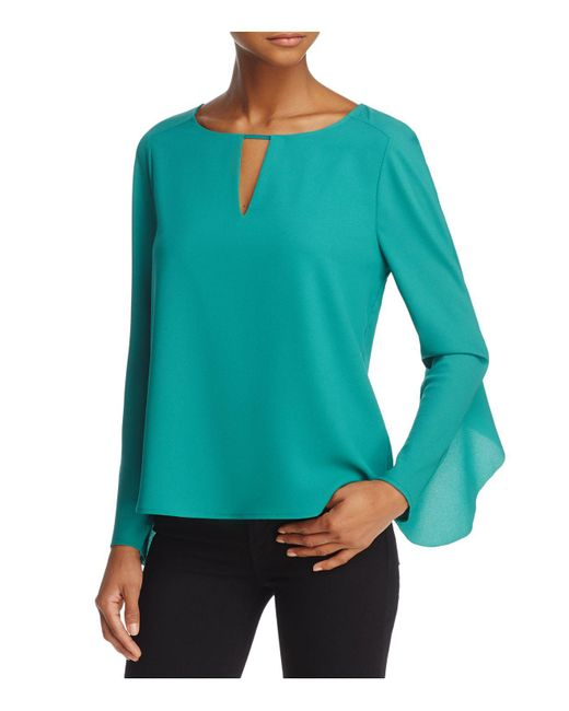 Cooper & Ella | Green Selma Ruffled Top | Lyst
