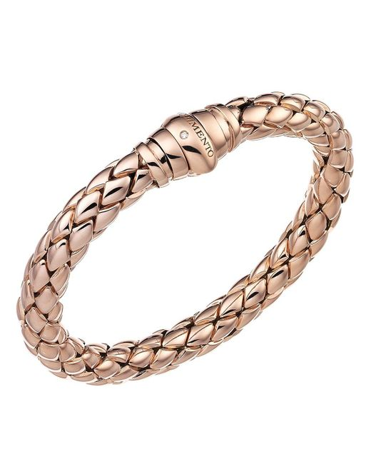 Chimento | Pink 18k Rose Gold Stretch Classic Collection Pyramid Link Bracelet With Diamonds | Lyst