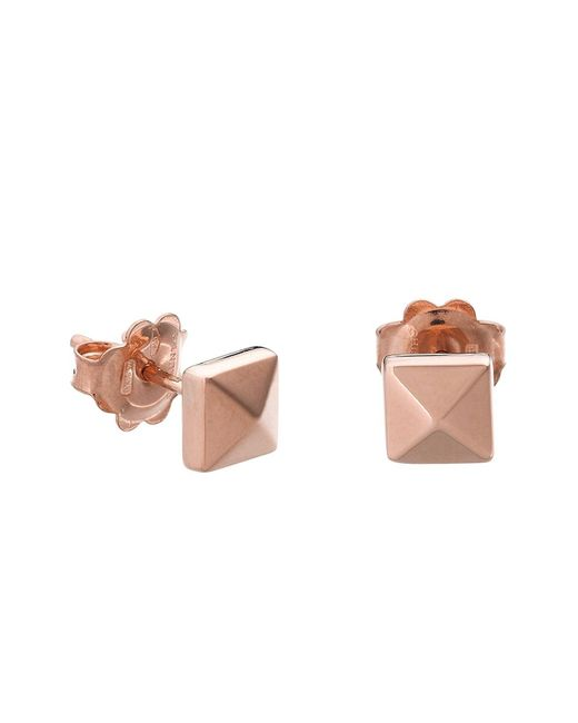 Chimento | Pink 18k Rose Gold Armillas Pyramis Collection Square Stud Earrings | Lyst