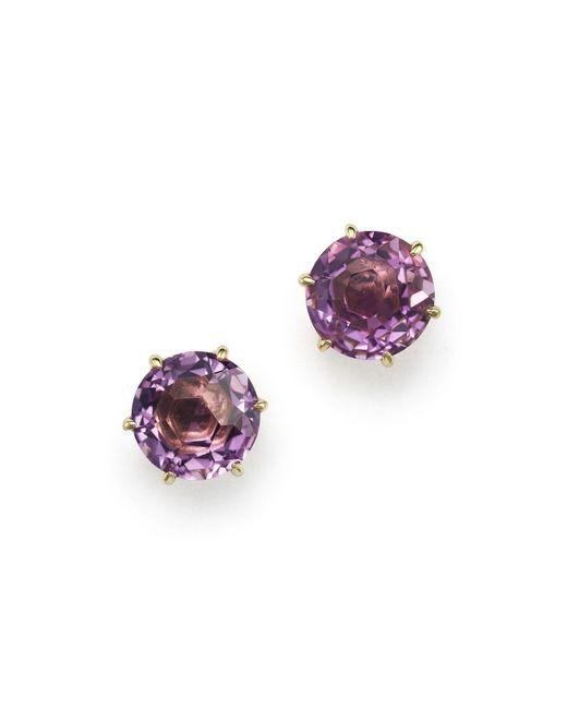 Ippolita | Purple 18k Gold Rock Candy Medium Round Stud Earrings In Dark Amethyst | Lyst