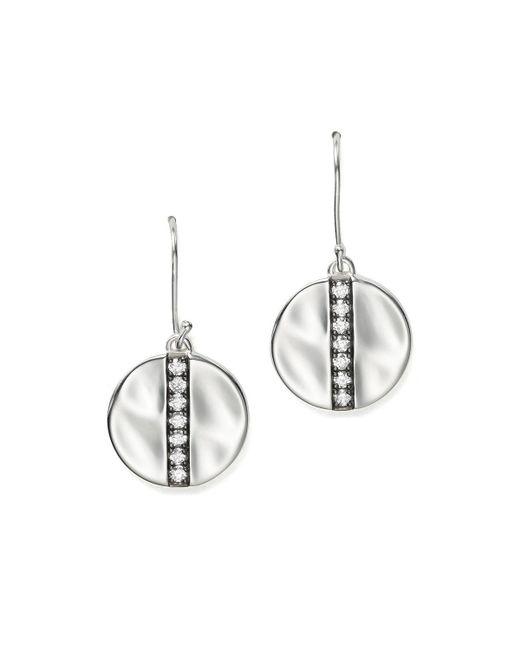 Ippolita | Metallic Sterling Silver Glamazon Stardust Medium Disc Earrings With Diamonds | Lyst