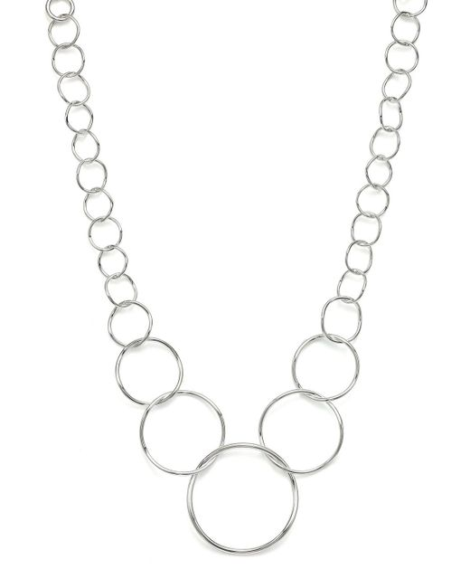 Ippolita | Metallic Sterling Silver Glamazon Graduated Wavy Circles Necklace, 16"