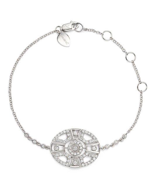 Meira T | Metallic 14k White Gold Antique Diamond Bracelet | Lyst