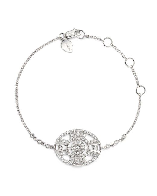 Meira T | Metallic 14k White Gold Antique Diamond Bracelet | Lyst