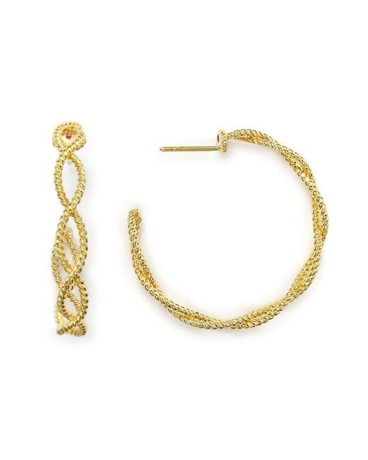 Roberto Coin   Metallic 18k Yellow Gold New Barocco Braided Hoop Earrings   Lyst