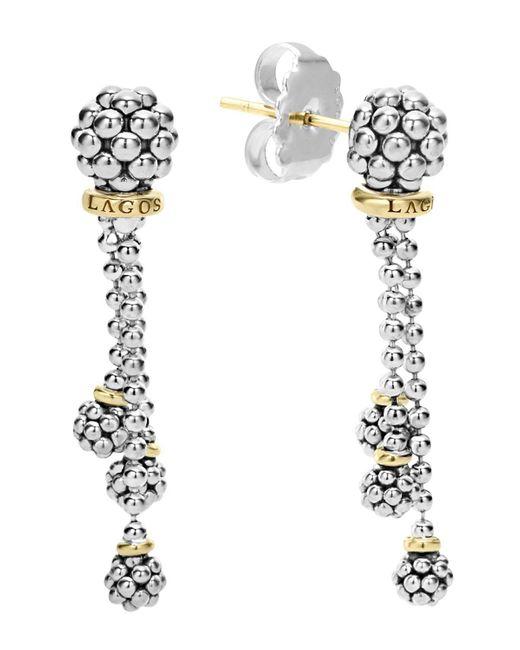 Lagos | Metallic 18k Gold Caviar Forever Tassel Earrings | Lyst