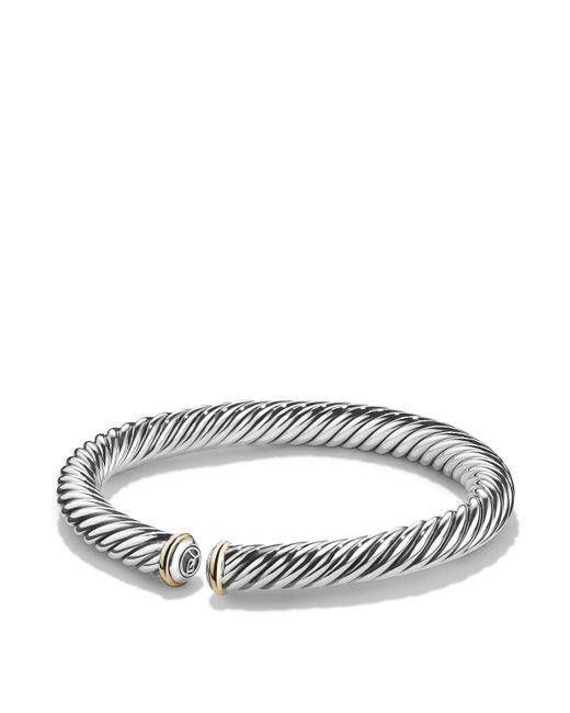 David Yurman | Metallic Cable Spira Bracelet With 18k Gold | Lyst