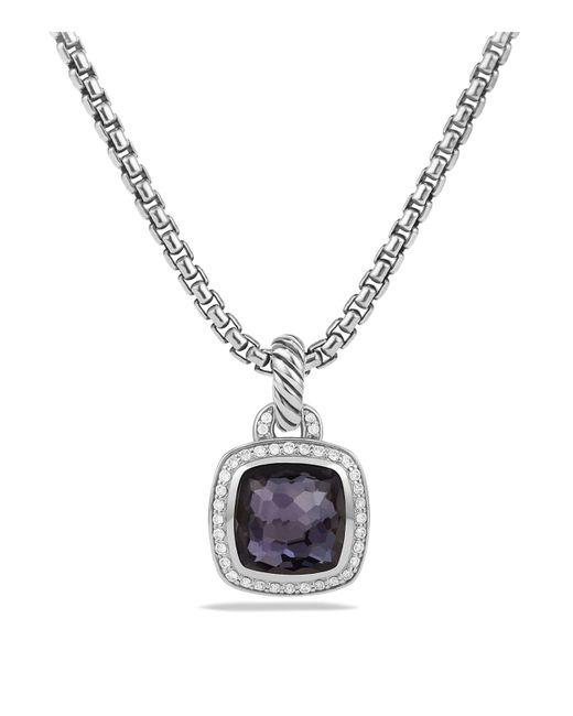 David Yurman | Black Albion Pendant With Lavender Amyethst And Diamonds | Lyst
