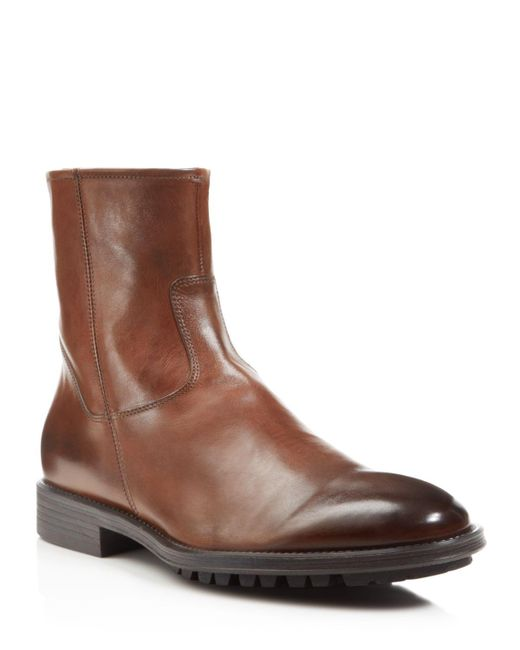 To Boot   Brown Harrison Side Zip Boots for Men   Lyst