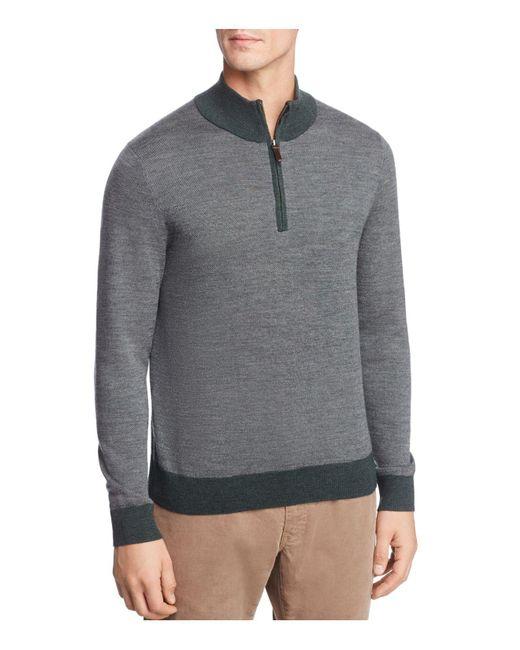 Brooks Brothers | Green Birdseye Quarter-zip Sweater for Men | Lyst