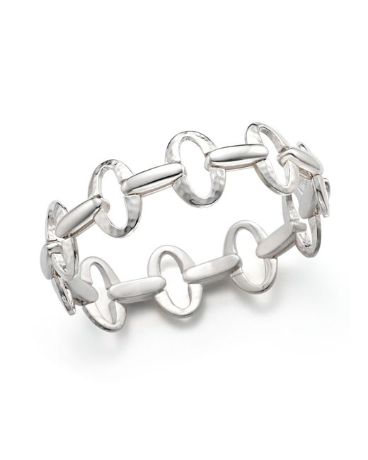 Ippolita | Metallic Sterling Silver Glamazon® Small Oval Link Bracelet | Lyst