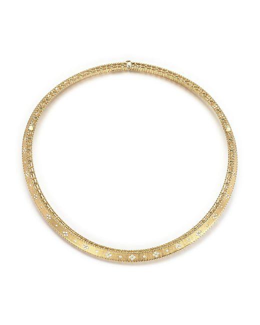 Roberto Coin | Metallic 18k Yellow Gold Diamond Link Princess Collar Necklace | Lyst