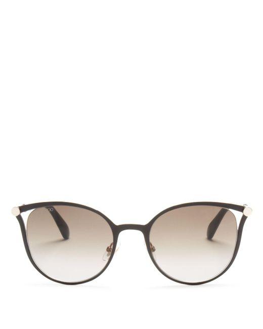 Jimmy Choo | Black Neiza Square Sunglasses, 54mm | Lyst