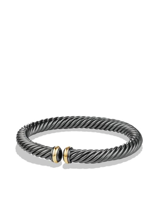 David Yurman | Black Cable Spira Bracelet With 18k Gold | Lyst