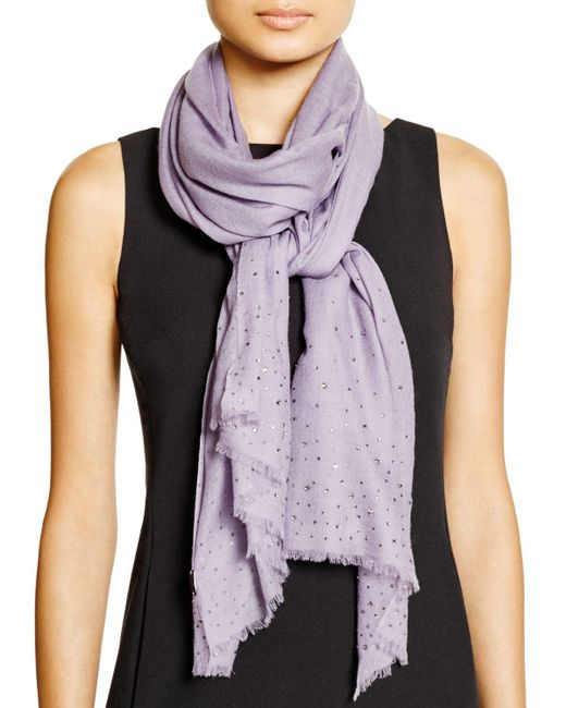 Fraas | Purple Sparkle Wrap Scarf | Lyst
