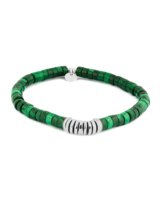Tateossian | Multicolor Malachite Rhodium Disc Bead Bracelet | Lyst