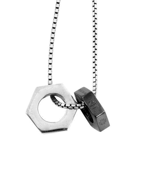 Tateossian | Multicolor Gunmetal Chain Bolt Necklace for Men | Lyst