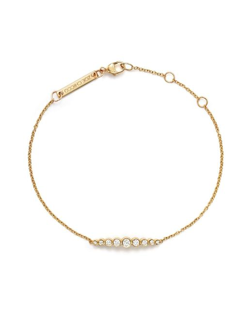 Zoe Chicco | Metallic 14k Yellow Gold And Diamond Graduated Bezel-set Bracelet | Lyst