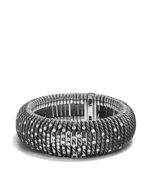 David Yurman | Metallic Tempo Bracelet With Diamonds | Lyst