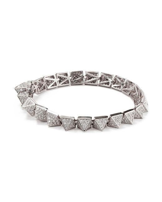 Eddie Borgo | Metallic Pave Pyramid Bracelet | Lyst