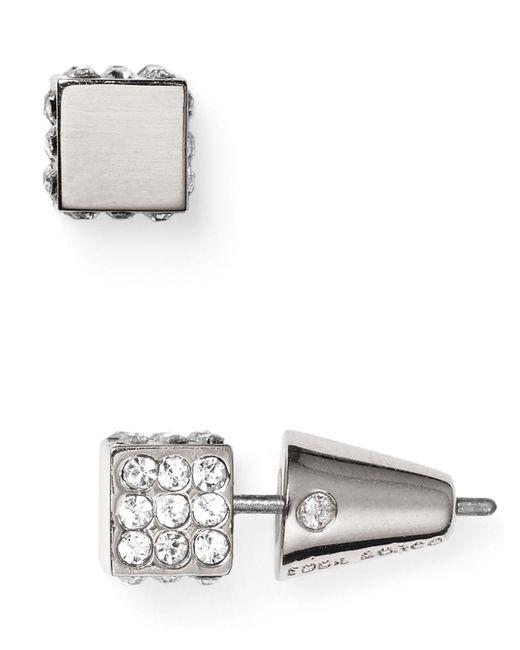 Eddie Borgo   Metallic Pave Cube Stud Earrings   Lyst
