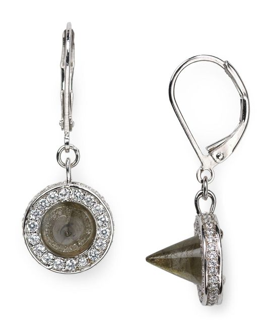 Eddie Borgo   Metallic Cone Drop Earrings   Lyst