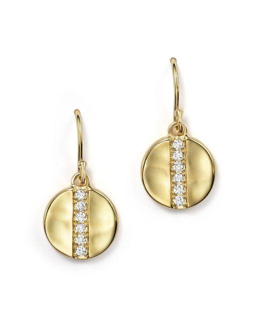 Ippolita   Metallic 18k Gold Glamazon Stardust Small Disc Earrings With Diamonds   Lyst