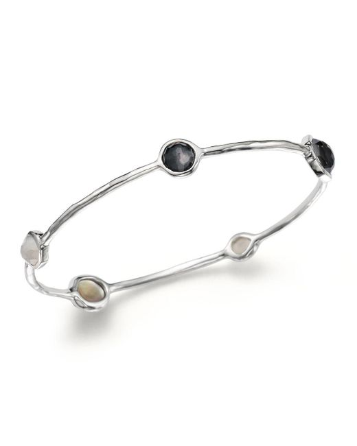 Ippolita | Metallic Sterling Silver Bangle In Black Tie | Lyst