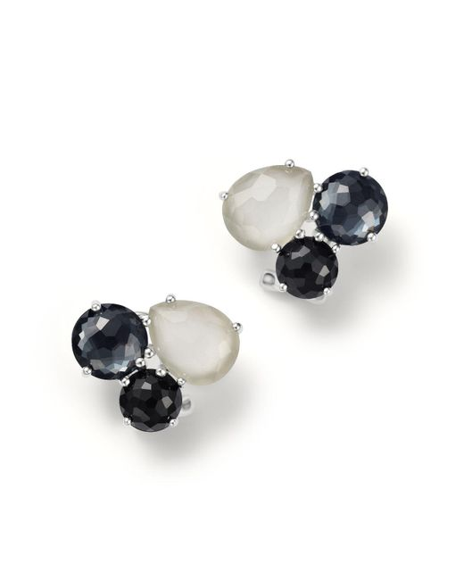 Ippolita | Multicolor Sterling Silver Rock Candy® Cluster Stud Earrings In Black Tie | Lyst
