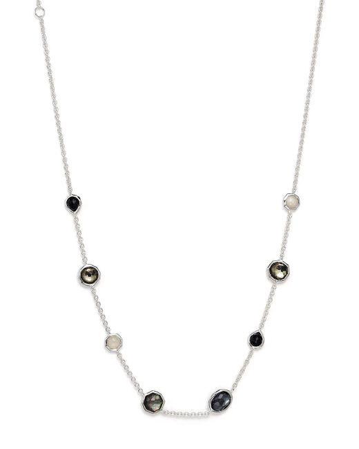"Ippolita | Multicolor Sterling Silver Rock Candy Mini Gelato Short Station Necklace In Black Tie, 16"" | Lyst"