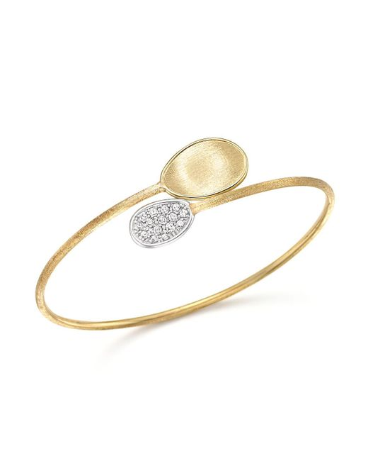 Marco Bicego | Metallic 18k Yellow Gold Diamond Lunaria Bracelet With Diamonds | Lyst