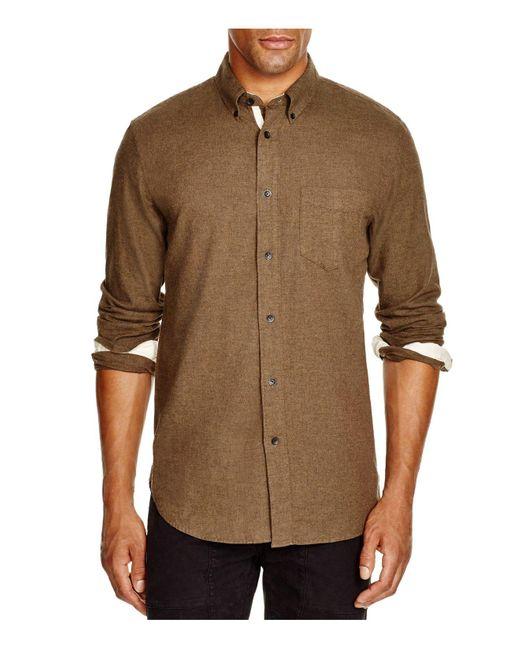Rag & Bone | Brown Lightweight Flannel Regular Fit Button-down Shirt for Men | Lyst
