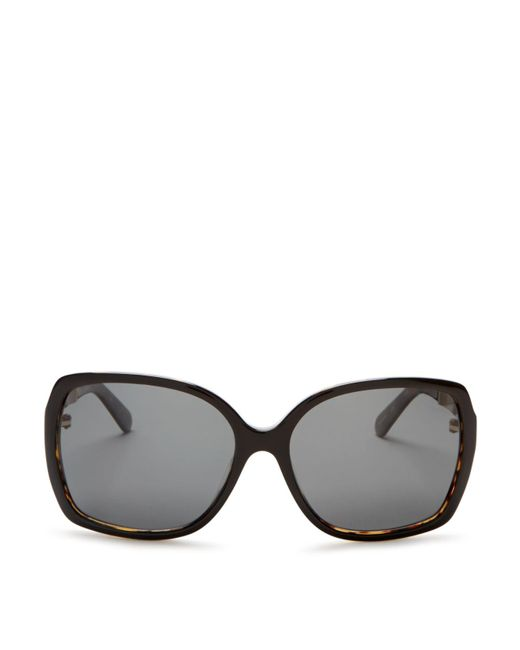 kate spade new york | Black Darilyn Oversized Polarized Square Sunglasses, 58mm | Lyst
