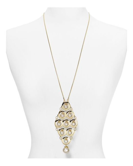 Aqua | Metallic Danielle Necklace, 28"