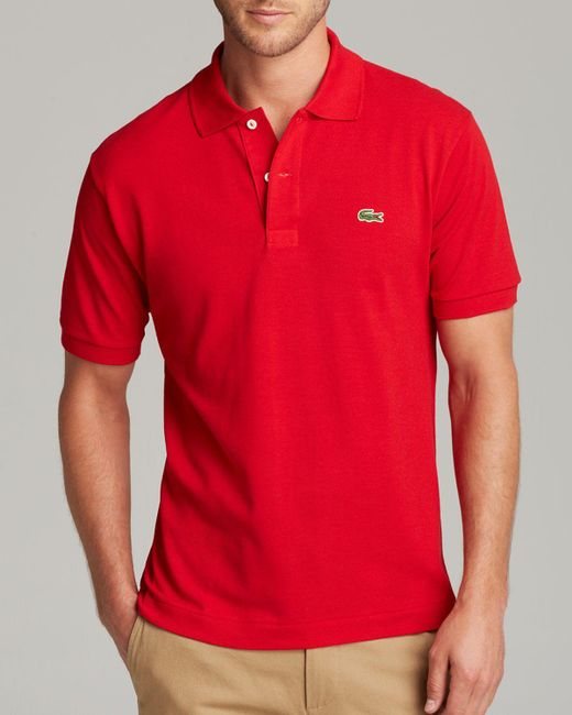 Lacoste   Red Classic Pique Polo for Men   Lyst