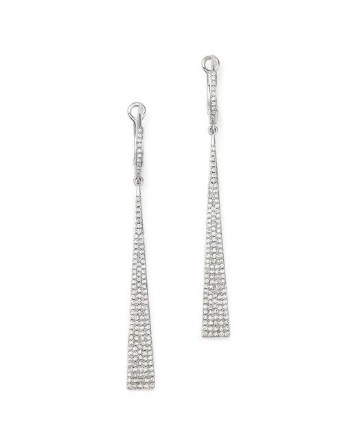 KC Designs | Metallic Diamond Drop Earrings In 14k White Gold | Lyst