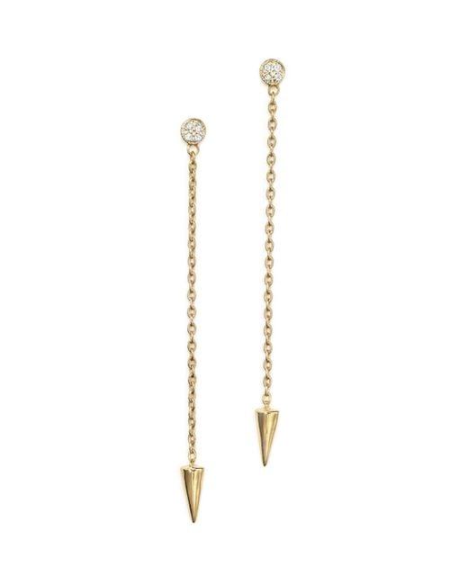 KC Designs | Metallic Diamond Spike Drop Earrings In 14k Yellow Gold - 100% Exclusive | Lyst