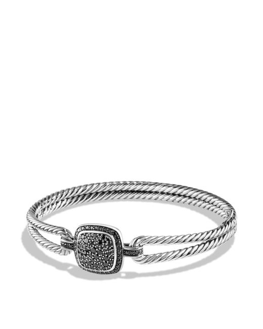 David Yurman | Metallic Albion Bracelet With Black Diamonds | Lyst