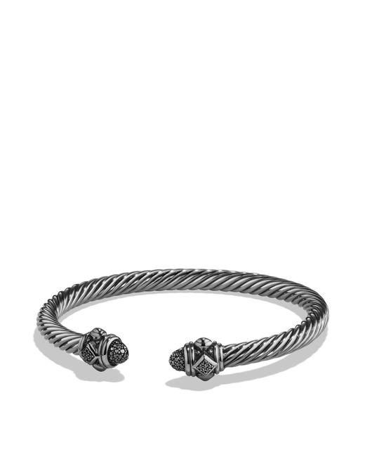 David Yurman | Metallic Renaissance Bracelet With Black Diamonds In Silver | Lyst