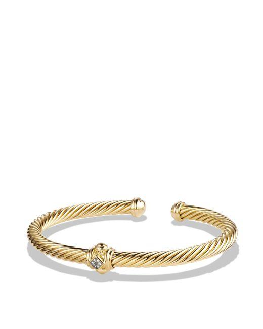 David Yurman | Metallic Renaissance Bracelet With Diamonds In 18k Gold | Lyst