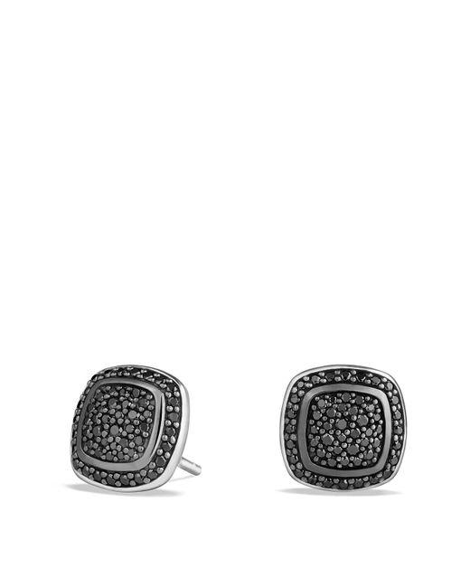 David Yurman | Metallic Albion Earrings With Black Diamonds | Lyst