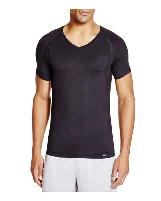 Hanro | Black Urban Touch Short Sleeve Shirt for Men | Lyst