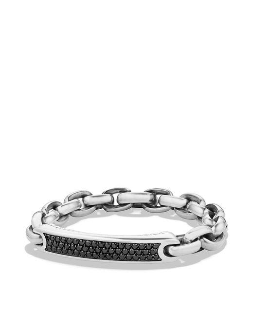 David Yurman | Metallic Pavé Streamline Id Bracelet In Silver With Black Diamonds for Men | Lyst