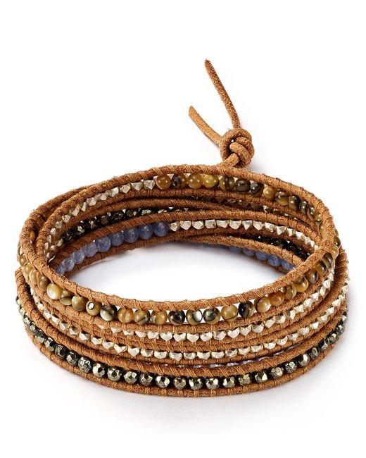 Chan Luu | Brown Beaded Wrap Bracelet | Lyst