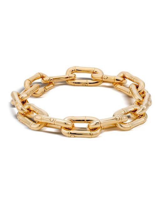 John Hardy Bamboo 18k Gold Small Link Bracelet In Metallic