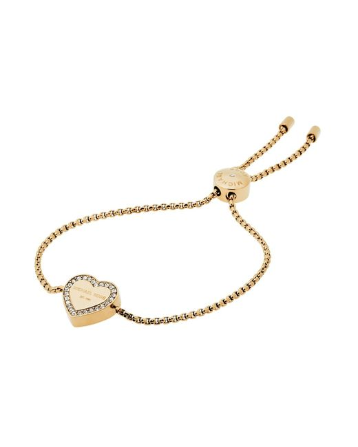 Michael Kors | Metallic Heritage Heart Slider Bracelet | Lyst