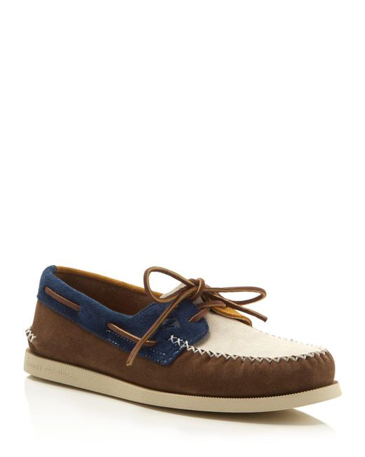 Sperry Top-Sider | Natural Men's Authentic Original 2-eye Wedge Boat Shoes for Men | Lyst